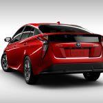 Heckansicht des Toyota Prius IV (US-Spezifikation)
